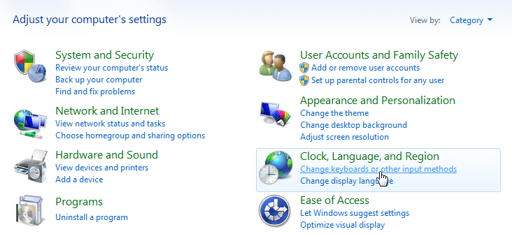 How to enable Language bar in windows 7