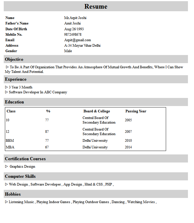Resume Maker Resume Builder Resume Sample Resume Format