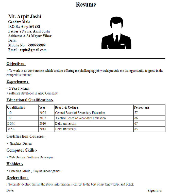 best marketing cv format bangladesh
