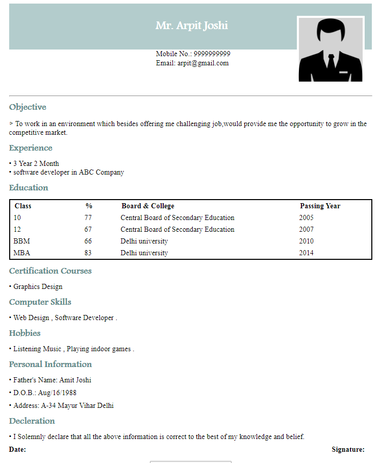 Resume Maker Create Resume In 2 Minutes Resume Samples